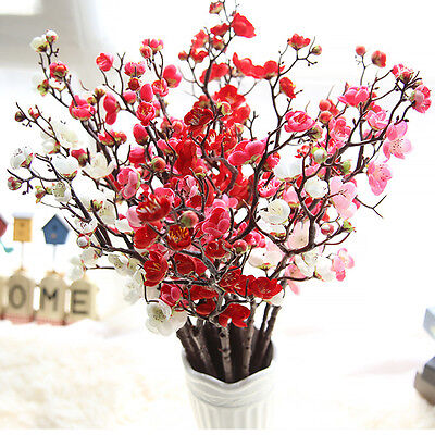Plum Blossom Silk Artificial Flowers Cherry Blossoms Home Decoration Flowers - Cherry Blossom Decorations