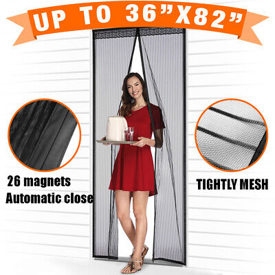 Magnetic Screen Door with Heavy Duty Strong Magnets and Mesh Curtain -