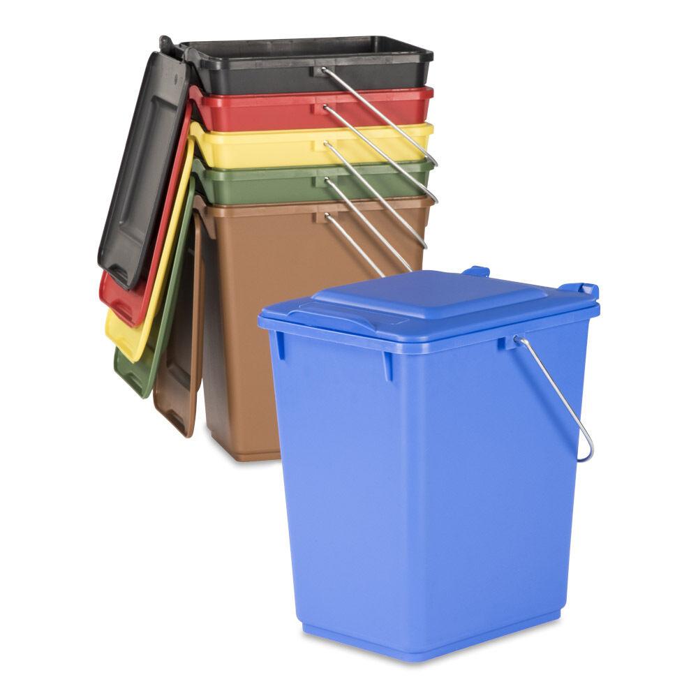 10 L neue Futtertonne Plastikeimer Tierfutter Box Behälter mit Deckel farbig