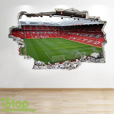 Fußball-schlafzimmer Dekorationen (Fußballstadion Wandaufkleber 3D Optik - Jungen Kinder Fußball Schlafzimmer Z48)