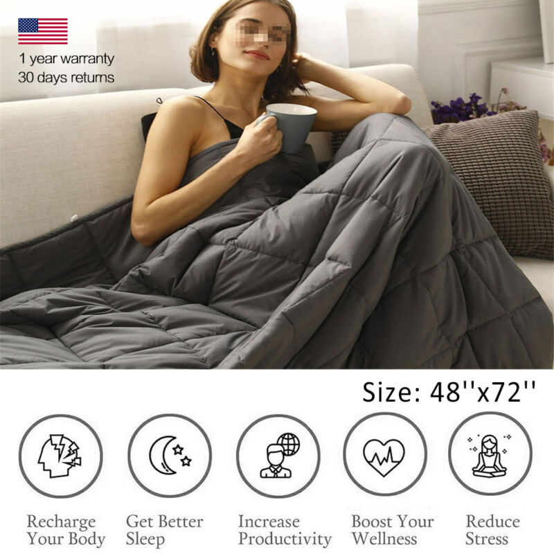 """Gravity Heavy Sensory Weighted Blanket 15 lbs 48""""x72"""" For Ad"""