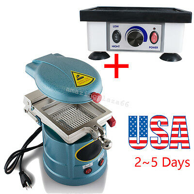 Dental Vacuum Forming Molding Machine Former Small Square Dental Vibrator Usa