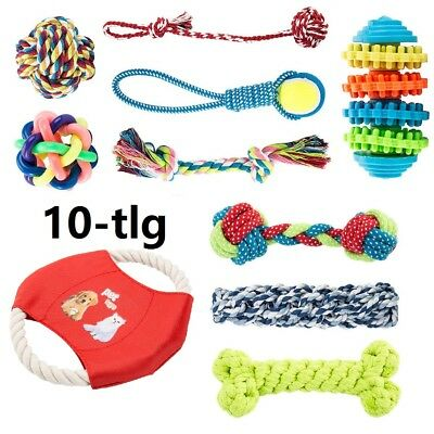 10er Set Hunde Spielzeug aus Seil Kauspielzeug Hundespielzeug Hund Welpen Kauen (Spielzeug)