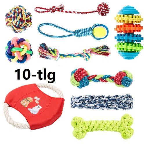 10er Set Hunde Spielzeug aus Seil Kauspielzeug Hundespielzeug Hund Welpen Kauen