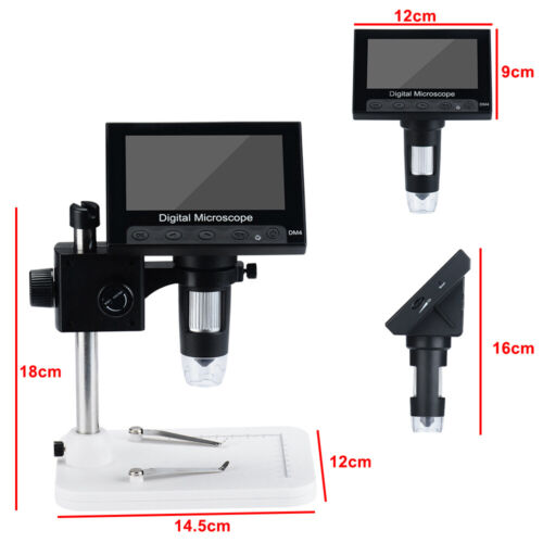 "Adjustable 4.3"" 1000X HD LCD Monitor Electronic Digital Microscope LED Magnifier 1"