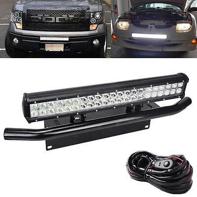 "FIT Ford SUV Car Off-road 22"" 126W LED Light Bull Bar Bumper Licence Plate Kit"