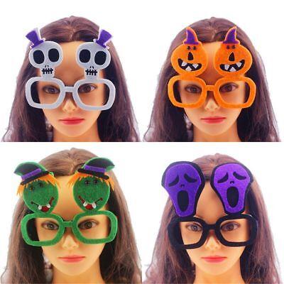 Halloween Skeletons Makeup (Plastic Skeleton Shape Horrifying Halloween Glasses Make-up Ball)