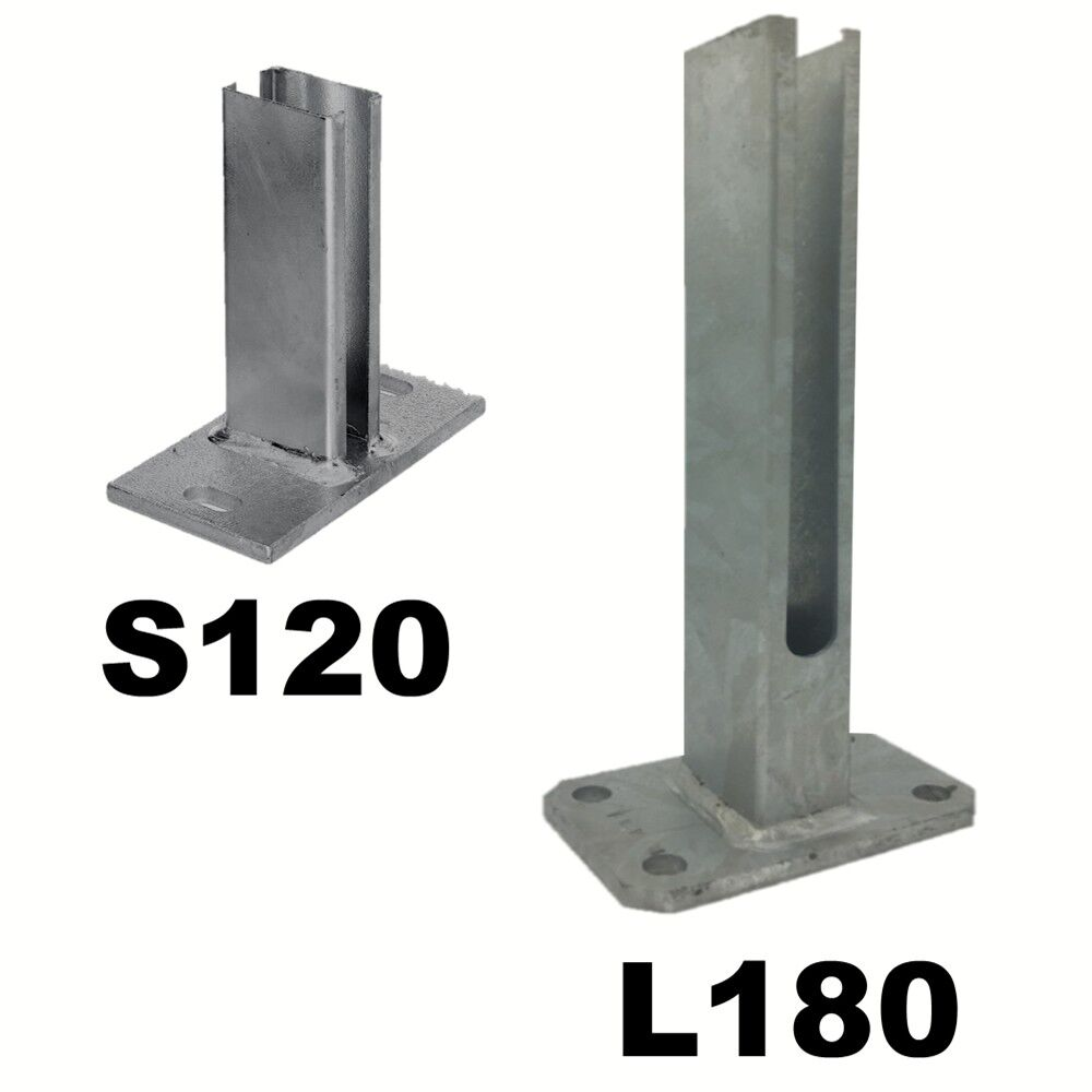 Bodenplatten Fur Zaunpfosten 60x40mm Doppel Stab