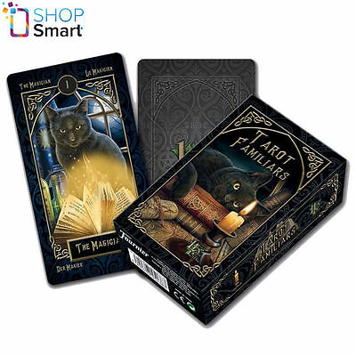 LISA PARKER FAMILIARS TAROT DECK CARDS ESOTERIC TELLING FOURNIER NEW