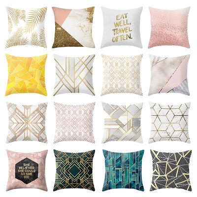 Gift Throw Pillow - Geometric Printed Polyester Cushion Covers Sofa Throw Pillow Case Christmas Gift