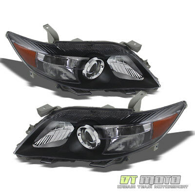 Black 2010-2011 Toyota Camry USA Built Projector Headlights Headlamps Left+Right