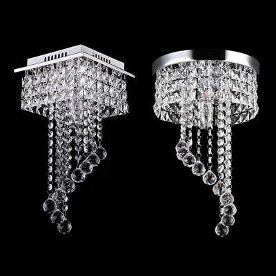Elegant Crystal Chandelier Ceiling LED Light Lamp Pendant Lighting Fixture Decor - Chandelier Decoration