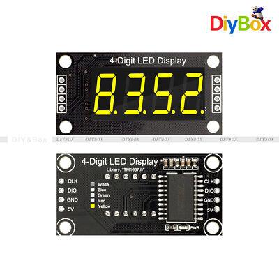 0.36 Tm1637 7-segment 4digit Tube Digital Led Yellow Display Module For Arduino