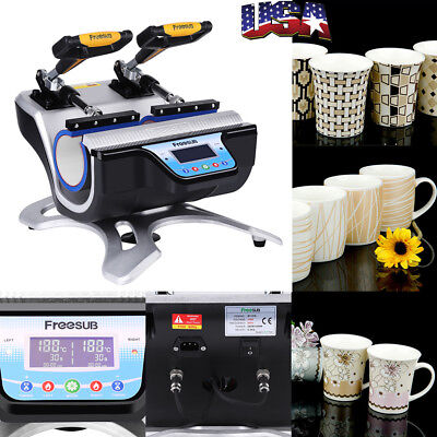 Automatic Double Station Mug Heat Press St-210 Sublimation Transfer Printing Us