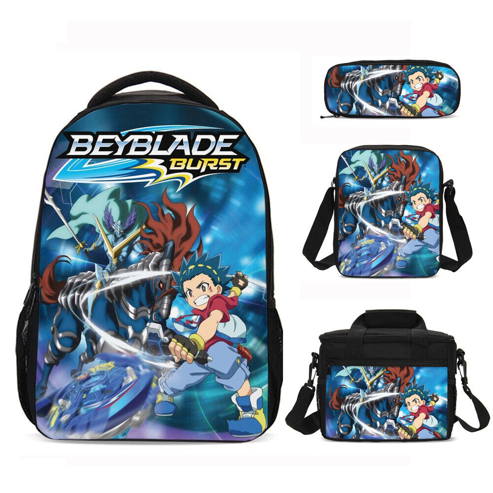 Beyblade Burst Kid Backpack Teenager School Bag Insulated Lunch Bag Pen Case Lot