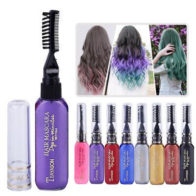 DIY Temporäre Haarfarbe Kreide Kamm Set Mascara Creme Stick für Halloween (Halloween Haar Farbe)