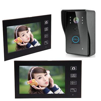 """7"""" Wireless Video Camera Door Phone Doorbell Home Intercom 2-Monitor Security US"""