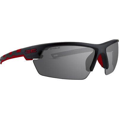 Epoch Link Golf Sport Riding Sunglasses Black and Red Frame with Smoke (Red And Black Frame)