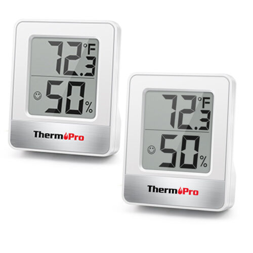 2PCS LCD Digital Indoor Thermometer Room Hygrometer Temperature Humidity Monitor