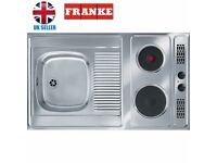 Kitchenette, Mini Kitchen - FRANKE Stainless Steel Sink with 2 Electric hobs