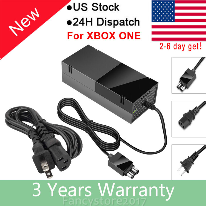 For Microsoft XBOX ONE Console AC Adapter Brick Charger Power Cord Cable 12V