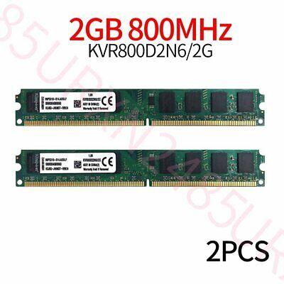 Kingston 4GB 2x 2GB PC2-6400U DIMM DDR2 800mhz CL6 240pin memoria RAM...