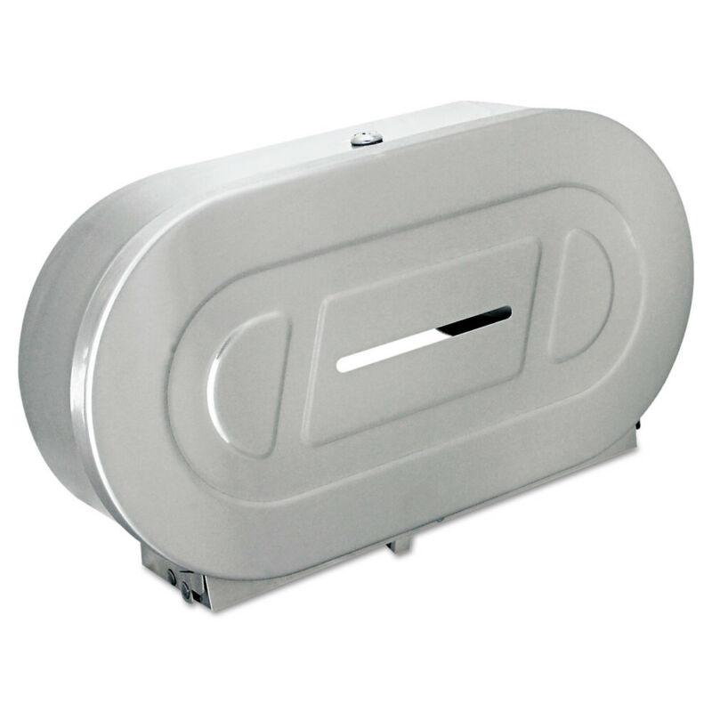 Bobrick Toilet Tissue 2 Roll Dispenser, Stainless Steel,jumbo,20-13/16wx5 15/16d