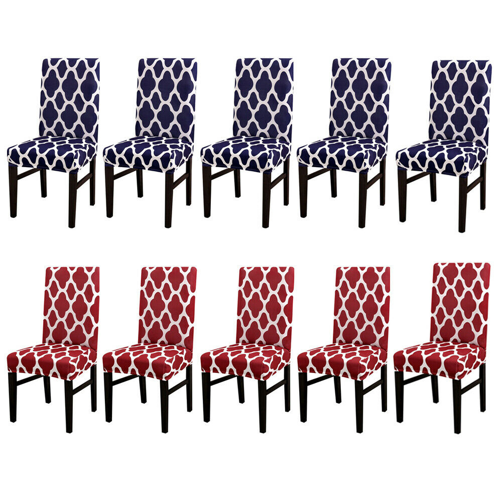 Removable Stretch Spandex Chair Seat Covers for Dining Room