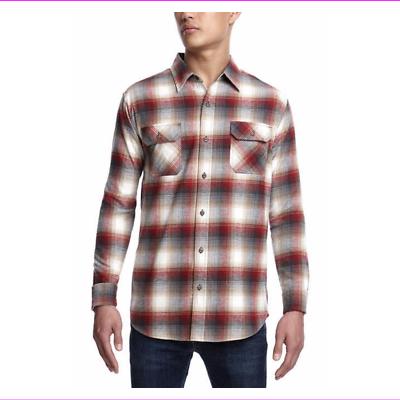 Men's Weatherproof Vintage Flannel Button-Up Long Sleeve S