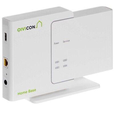 Qivicon Smart Home Basis (Home Base inkl. Lizenz) System für Heimautomatisierung