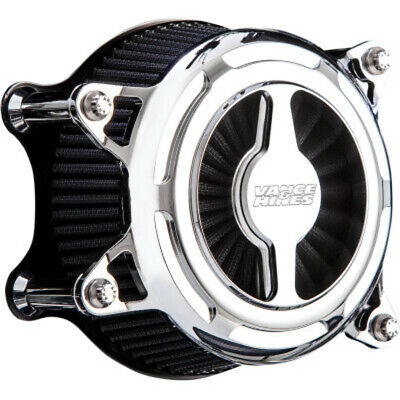 Vance & Hines Chrome V02 Blade Air Cleaner Filter Intake Harley Twin Cam 08-17