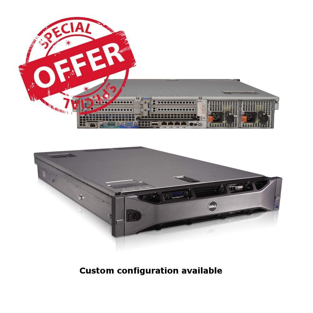 DELL POWEREDGE R710 SFF 2x QUAD CORE X5570 2.93GHz 24GB RAM PERC 6i NO HDD