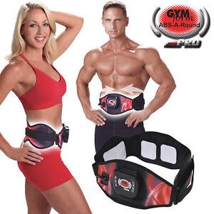 ABS-A-Round-Pro-Cintura-Elettrostimolatore-per-Addominali-Fitness-Taglia-L-XL