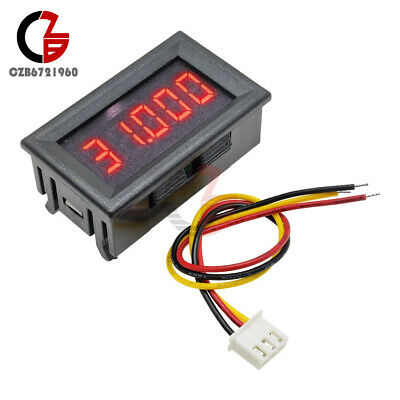 3-wire 5 Digit 0.36 Dc 0-33.000v Red Led Digital Voltmeter Voltage Meter Panel