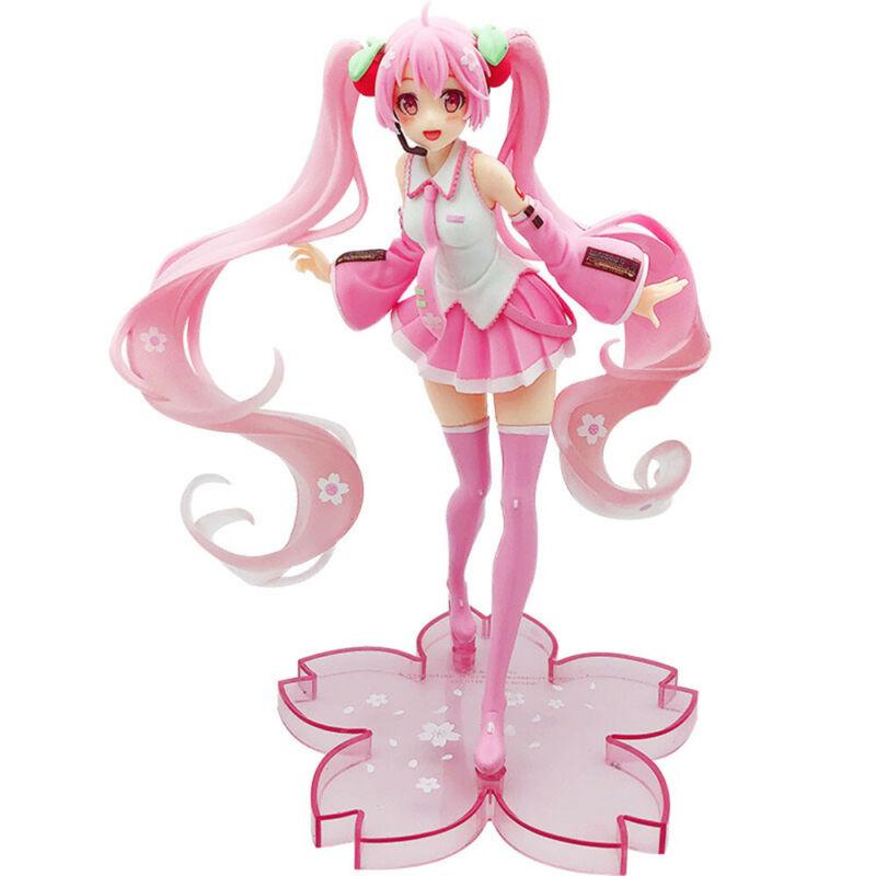 Hatsune Miku Sakura Miku 20cm Anime Action Figure Kids Toy Doll Gift Cake Topper
