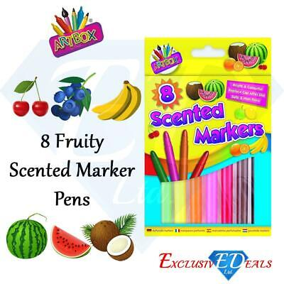ArtBox 8 Scented Thick Jumbo Markers Felt Tips, Party Bag Gift - School Product Jumbo Tip Bag