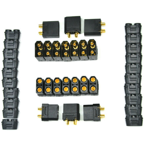 10 Pairs Black Amass XT90H Connector Male Female Protective Cover RC