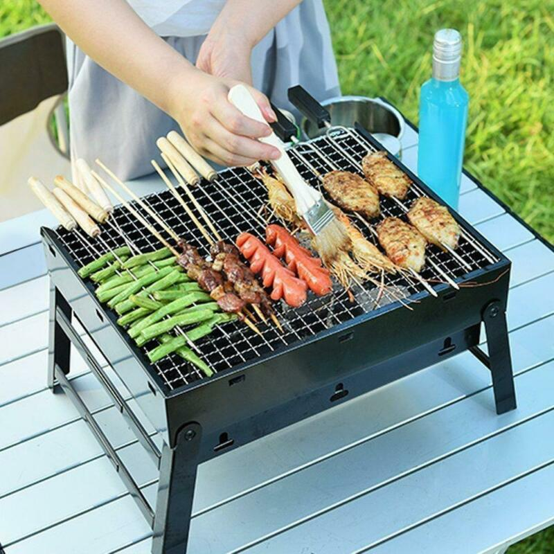 BBQ Charcoal Grill Folding Portable BBQ Tool Kits for Outdoo