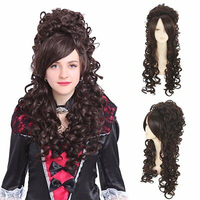Marie Antoinette Victorian Medieval Renaissance Long Wavy Hair Cosplay Wigs - Gothic Wigs
