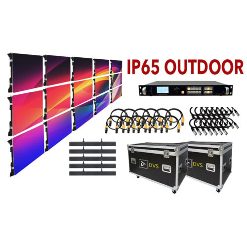NEW 8-FT x 5-FT IP65 WEATHERPROOF P3.9 OUTDOOR LED VIDEO WALL 15 PANEL PACKAGE