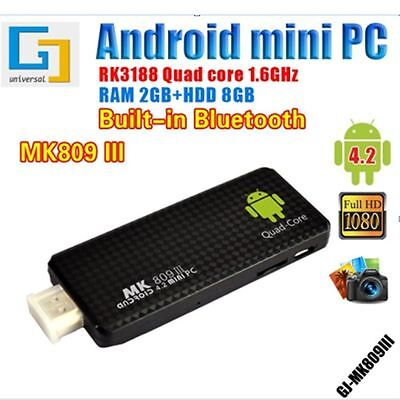 Details about New MK809III Android 5 1 Quad Core Mini PC TV Dongle Stick  DLAN WiFi DC Box