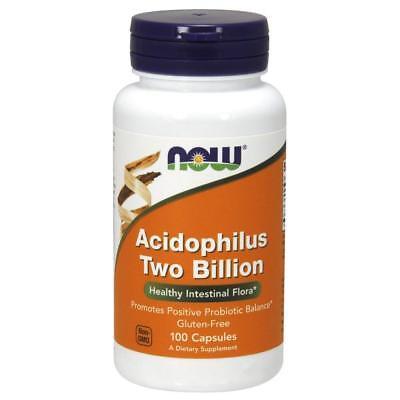 NOW FOODS, ACIDOPHILUS 2 BILLION, Probiotische Kulturen 100VKaps.