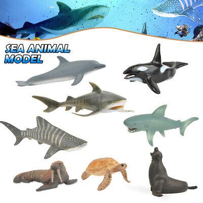 8 x Meerestiere ca. 9-15cm - Robbe Hai Shark Dolphin Wal Schildkroete Spielzeug