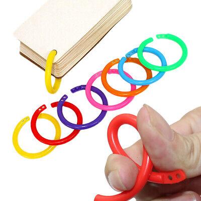 Colorful Plastic Loose Leaf Rings Binder Diy Book Ring Scrapbook Album