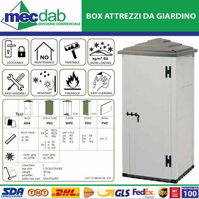 Box Per Attrezzi Da Giardino Cottage Urban 80 In Resina 82 x 82 x H 203 Garofalo