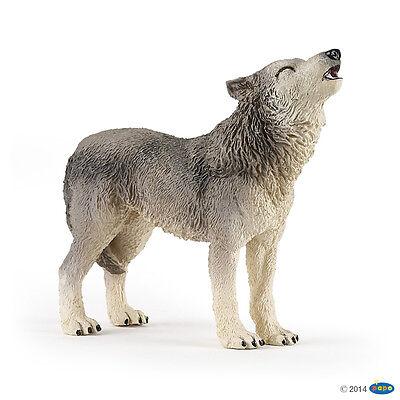 Heulender Wolf 9 cm  Wildtiere Papo 50171                           NEUHEIT 2015