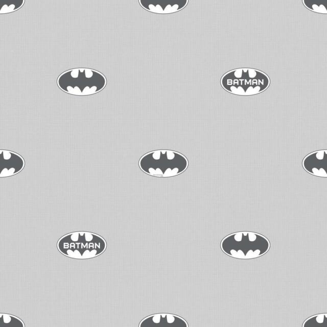 GALERIE OFFICIAL BATMAN LOGO BAT SYMBOL PATTERN DC COMIC CHILDRENS WALLPAPER GRE