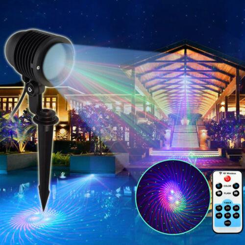 rgb christmas ir moving laser light star projector landscape spotlight outdoor ebay. Black Bedroom Furniture Sets. Home Design Ideas