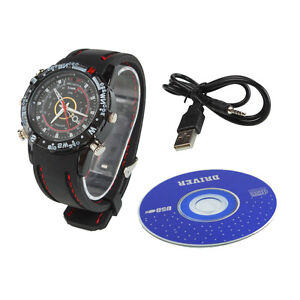 1280*960 8GB HD Watch Camera Digital Video Recorder DVR Cam Waterproof Camcorder
