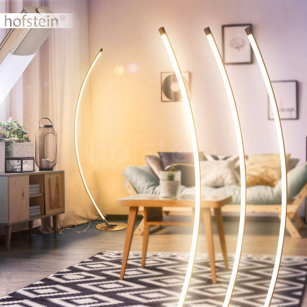 LED Wohn Schlaf Zimmer Leuchte Fernbedienung Steh Stand Boden Lampe Loft Dimmer